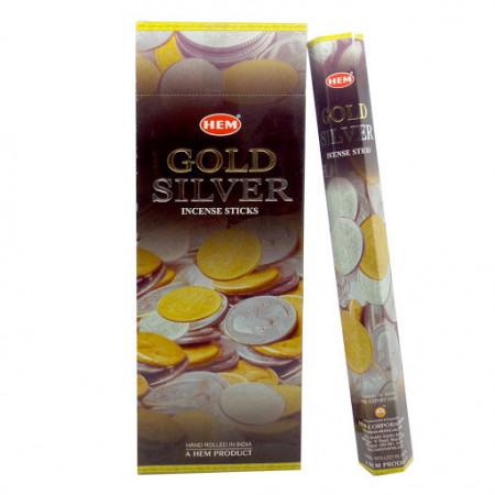 Set betisoare parfumate Hem Gold Silver 1 set x 6 cutii x 20 betisoare