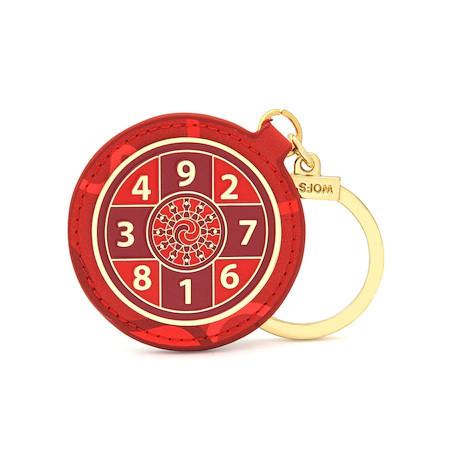Amuleta amplificatoare a sumei lui 10 - Amuleta suma 10 rosie 2021, remediu Feng Shui din Metal, 50 mm lungime