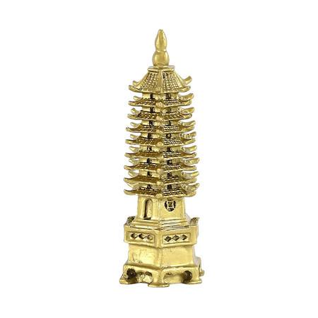 Pagoda celor noua nivele din metal remediu Feng Shui, 48 mm lungime