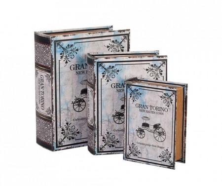 Set 3 cutii bijuterii tip carte Gran Torino