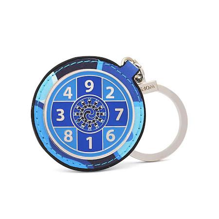 Amuleta amplificatoare a sumei lui 10 - Amuleta suma 10 albastra 2021, remediu Feng Shui din Metal, 50 mm lungime