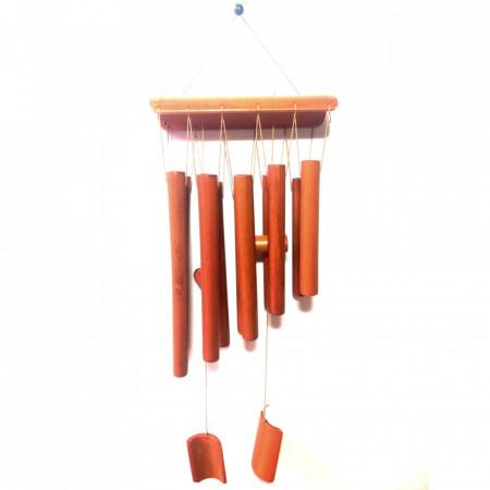 Clopotei de vant din lemn bambus cu 8 tuburi - 65cm