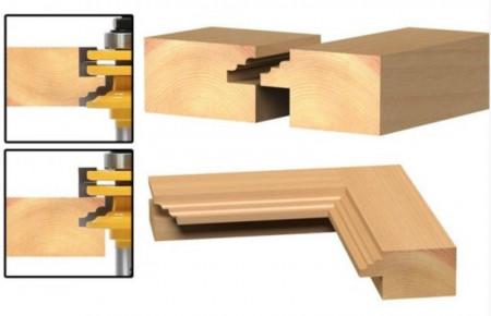 Freza lemn pentru profile de usi, rame oglinzi, geamuri 12.6mm