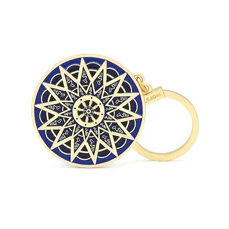 Amuleta de protectie cu Silaba HUM remediu Feng Shui din Metal, 50 mm lungime