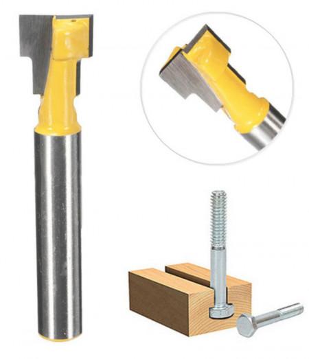 Freza lemn pentru canale/santuri T cu prindere de 8 mm