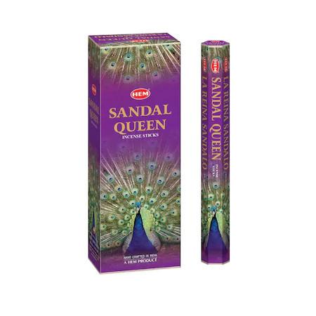 Set betisoare parfumate Hem Sandal Queen 1 set x 6 cutii x 20 betisoare