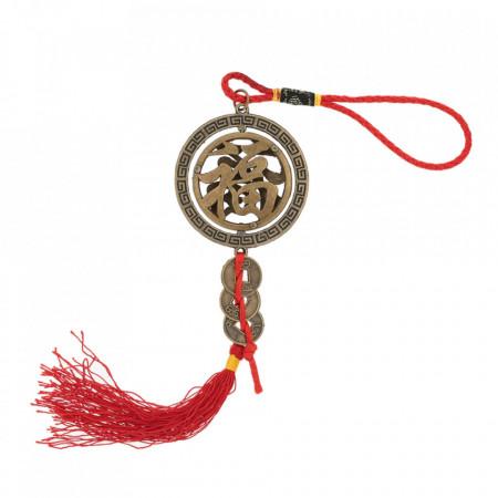 Amuleta pentru protectie la accidente remediu Feng Shui din Metal, 260 mm lungime