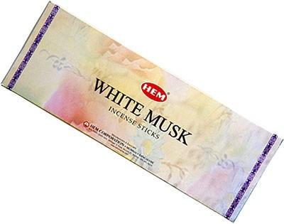 Set betisoare parfumate Hem MUSK WHITE 1 set x 6 cutii x 20 betisoare