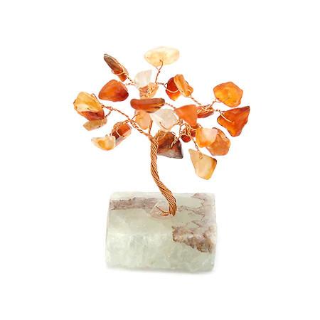 Copacel cu agate pe suport de piatra remediu Feng Shui din Agat, 60 mm lungime