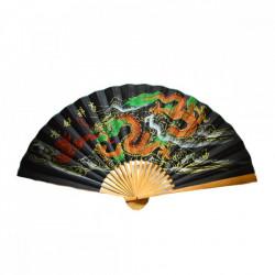 Evantai mare perete Feng Shui cu dragoni şi ideograme norocoase 90 cm x 160 cm