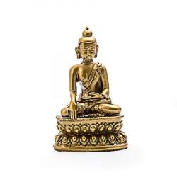 Statueta cu Buddha medicinei remediu Feng Shui din Rasina, 55 mm lungime