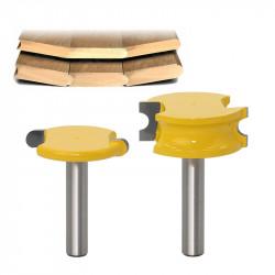 Set 2 freze lemn NUT si FEDER pe rotund frezat imbinare lemn prindere 8mm