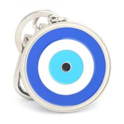 Amuleta cu Ochiul lui Horus – Ochiul impotriva raului si a magiei negre, remediu Feng Shui din metal, 80 mm lungime