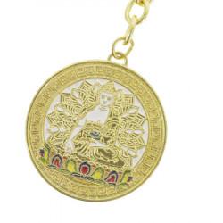 Amuleta cu TARA ALBA pentru Fertilitate, Sanatate, Forta vitala si spirituala remediu Feng Shui din Metal, 100 mm lungime
