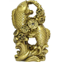 Crapi uniti in cifra 8, simbol al infinitului norocos, decoratiune feng shui pentru dragoste, sporul familiei si cariera