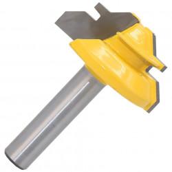 Freza lemn frezat unghi 45 grade imbinare lemn prindere 8mm (38mm freza)