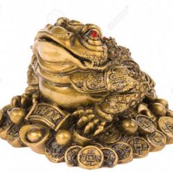 Statueta feng shui Broasca cu moneda in gura , noroc si prosperitate (1 kg)