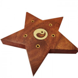 Suport lemn betisoare parfumate steluta