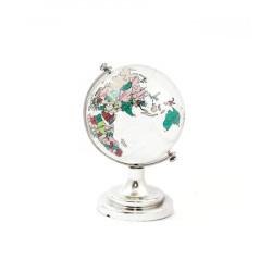 Glob pamantesc din cristal cu harta pictata mediu 45 mm remediu Feng Shui din Cristal, 50 mm lungime