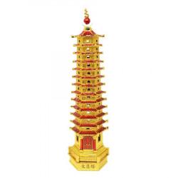 Amuleta cu Pagoda cu 13 nivele-remediu pentru invatatura remediu Feng Shui din Alama, 100 mm lungime