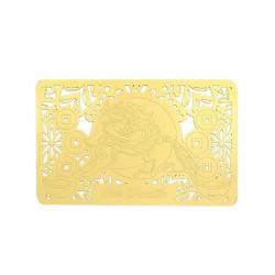 Card pentru prosperitate si protejarea averii cu Pi Yao remediu Feng Shui din Plastic, 86 mm lungime
