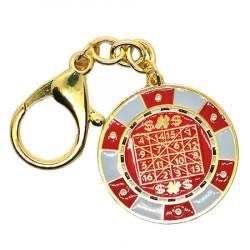 Amuleta cu mantra bogatiei 2021, remediu Feng Shui din Metal, 50 mm lungime