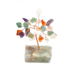 Copacel mixt pe suport de piatra remediu Feng Shui din Pietre semipretioase, 60 mm lungime