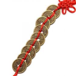 Sirag de noua monede I-Ching remediu Feng Shui din Metal, 280 mm lungime