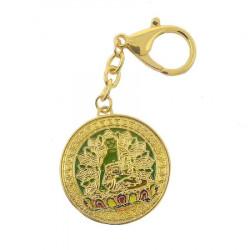Amuleta pentru familieTara Verde -Amghasiddhi Buddha (amgasidi) remediu Feng Shui din Metal, 35 mm lungime