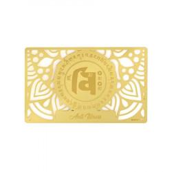 Card feng shui impotriva imbolnavirilor remediu Feng Shui din Metal, 80 mm lungime