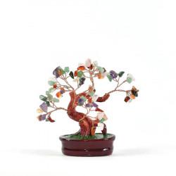 Copac mixt pe suport - mare remediu Feng Shui din Pietre semipretioase, 310 mm lungime