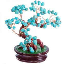 Copacel Feng Shui cu pietre protectoare de turcoaz remediu Feng Shui din Plastic|Rasina, 90 mm lungime