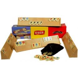 Joc de societate REMI, Rummy Eser tabla mare cu piese de plastic, 43cm
