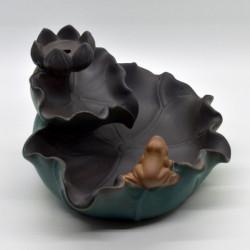 Suport ardere conuri parfumate cascada, model Frunze Lotus, AR55