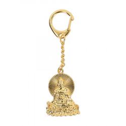Amuleta cu Buddha medicinei remediu Feng Shui din Metal, 35 mm lungime