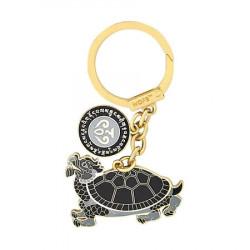 Amuleta cu testoasa neagra pentru sanatate si longevitate, remediu Feng Shui din Metal, 55 mm lungime