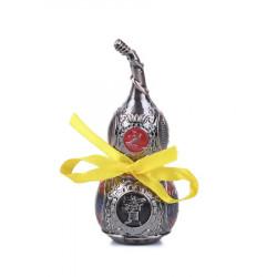 Amuleta Wu Lou din Bronz cu Yin si Yang - mediu remediu Feng Shui din Metal, 40 mm lungime