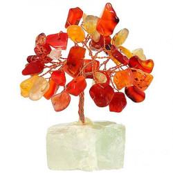 Copacel cu agate, copacei feng shui decorativi cu pietre semipretioase pentru stabilitate in relatii si siguranta