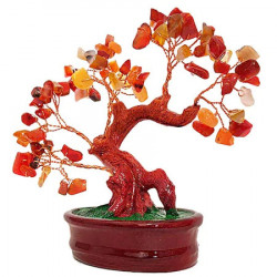 Copacel Feng Shui cu agate, copacel decorativ pentru pietre semipretioase pentru siguranta, amuleta pentru alungarea energiilor negative