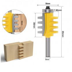 Freza lemn imbinare cu dinti prindere de 8 mm
