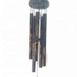 Clopotei de vant negrii Feng Shui 5 tuburi metalice sunet placut