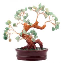 Copac cu aventurin pe suport oval ceramic remediu Feng Shui din Aventurin, 110 mm lungime