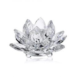 Floare de lotus din cristal remediu Feng Shui din Cristal, 70 mm lungime