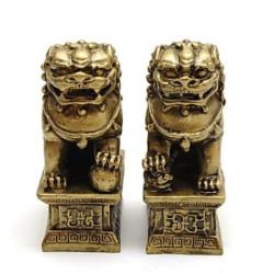 Pereche de Caini Fu remediu Feng Shui din Rasina, 60 mm lungime