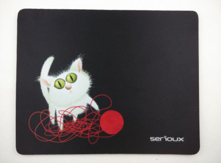 Mousepad Serioux MSP01, Cat and Ball of Yarn, 250x200x3 mm - SRXA-MSP01