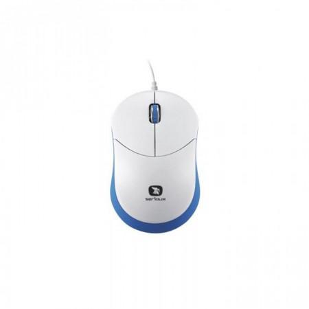 Mouse Serioux cu fir, optic, Rainbow 680, 1000dpi, albastru, ambidextru, blister - RBM680-BL