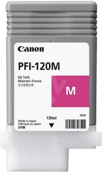 Cartus cerneala Canon PFI-120M, magenta, capacitate 130ml, pentru Canon TM 200/2 - 2887C001AA