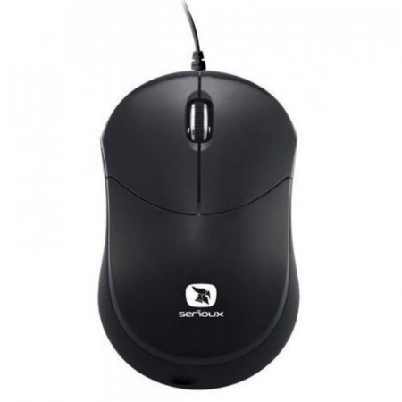 Mouse Serioux Rainbow 680, USB, Negru - RBM680-BK