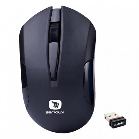 Mouse Wireless Serioux Drago 300, USB, Negru - DRAGO300-BK