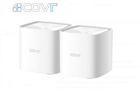 Router wireless D-Link Gigabit Mesh COVR-1102 Dual-Band 2 Pack, MU-MIMO, Parental control - COVR-1102